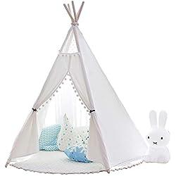 little dove Tipi Tente de jeux pour les enfants de coton toile (sans matelas )100% naturel