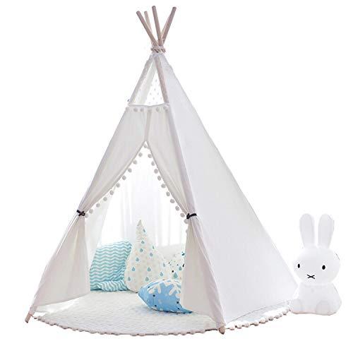 little dove Tipi Spielzelt für Kinder Natürliches Baumwollsegeltuch,Kinderzelt, Spielhaus, mit...
