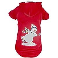 PetLife Mascota Vida LED iluminación de Vacaciones de muñeco de Nieve con Capucha para Mujer Disfraz