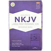 NKJV LARGE PRINT PERSONAL SIZE REFERENCE PURP LEATHER LIKE