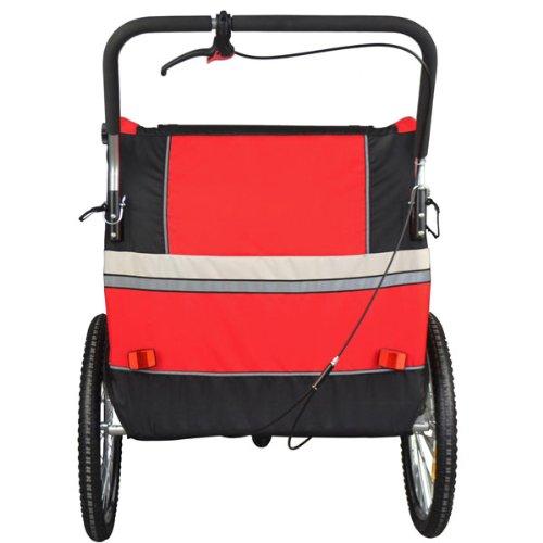 Vollgefederter Kinderfahrradanhänger mit Joggerfunktion Fahrradanhänger Exclusiv 504S-01 - 3