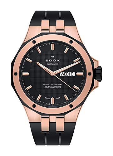 Edox 88005 357RNCA NIR - Reloj de Pulsera para Hombre, analógico, automático, con Fecha, día de la Semana