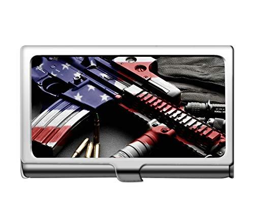 Professionelle Business-Kreditkartenetui/ID-Hülle, Colt AR-15 Schusswaffe Patriotische Rifle Credit ID-Kartenhalter -