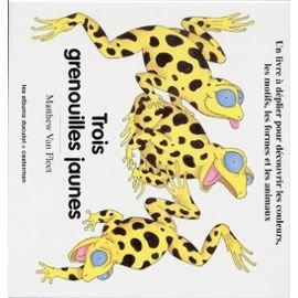 TROIS GRENOUILLES JAUNES. Un livre à déplier pour découvrir les couleurs, les motifs, les formes et les animaux