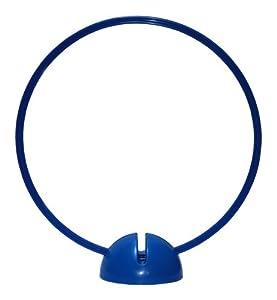 agility sport pour chiens - socle multi-fonctions remplissable avec cerceau Ø 50 cm, couleur: bleu - 1x xsR50b