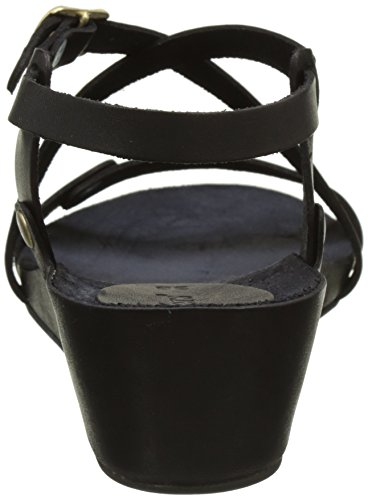 Kickers Taste, Sandales Bout Ouvert Femme Noir (Noir)