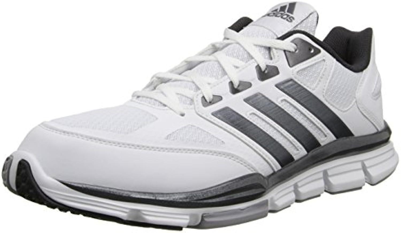 adidas Speed Trainer Herren Laufschuh, White-Carbon Met - Größe: 45 EU -
