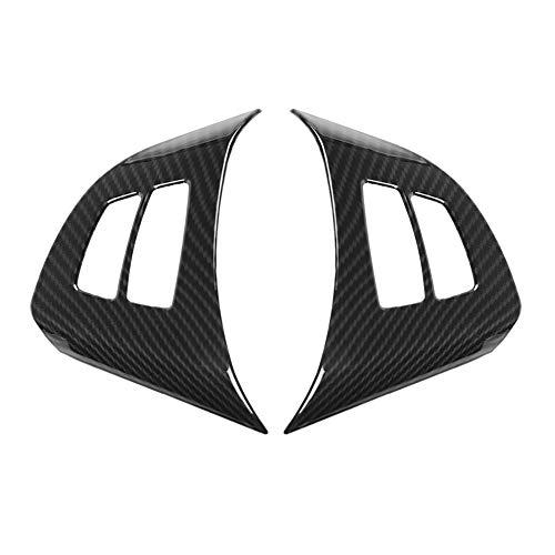 Trim-2pcs Carbon Lenkrad Button Frame Dekoration Abdeckung Trim für BMW X5 E70 2008-2013 ()