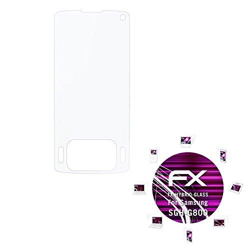 Samsung SGH-G800 Glasfolie - atFoliX FX-Hybrid-Glass hartbeschichtete elastische 9H Kunststoffglas Folie