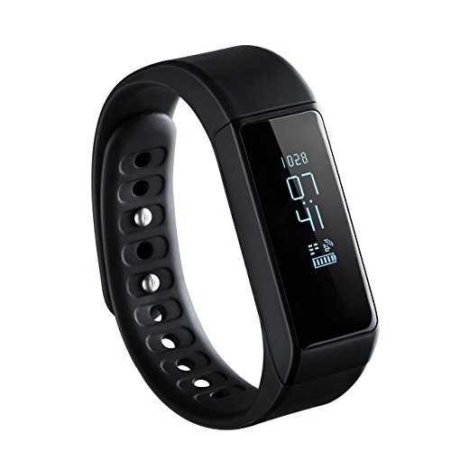 Fitness Tracker, OMorc Bracelet de Sport Connecté SmartWatch i5 Plus Bluetooth 4.0 Bracelet D'activité Intelligent Podomètre Santé Smart Band pour Apple iPhone IOS Android - Montre avec Écran OLED et ...