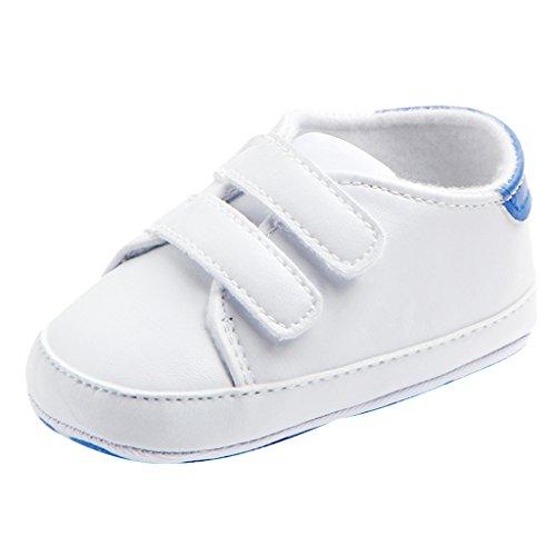 Prettyia Bambino Neonato Ragazza Bambino Morbido Culla Scarpette Scarpe Sneaker Scarpe Casual Neonato - Blu, 12-18M