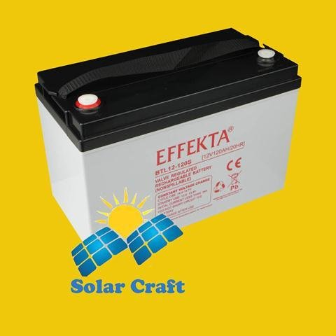 Gel-Akku 12V 120Ah AGM Solarpanel Ladegerät Energie photoviltaique
