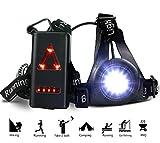 ATNKE Running Light Ricaricabile USB, Torcia Luminosa Regolabile Luminosa ad Alta visibilità con fanale Posteriore 3 modalità di Illuminazione per Jogging, Camminare, Campeggio, Lettura, Corsa
