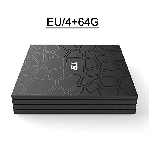 iBast EL Android TV Box 8.1 Intelligente T9 HD Netzwerk Media Player Decoder RK3328 Bluetooth 4GB RAM +64GB ROM Android 8.1 USB3.0