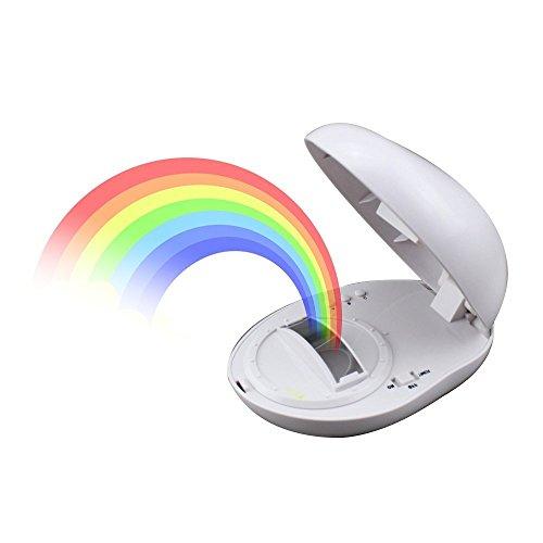 Nachtlicht, Umiwe Multicolor LED Licht Reflexion Schlaflampe Romantische Geschenk Zimmer Tischplatte Dekoration fur Kinder und Liebhaber (Regenbogen Dekoration)