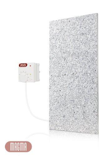 Magma Infrarotheizung 400Watt (Granit grau-weiß) mit Steckdosenregler