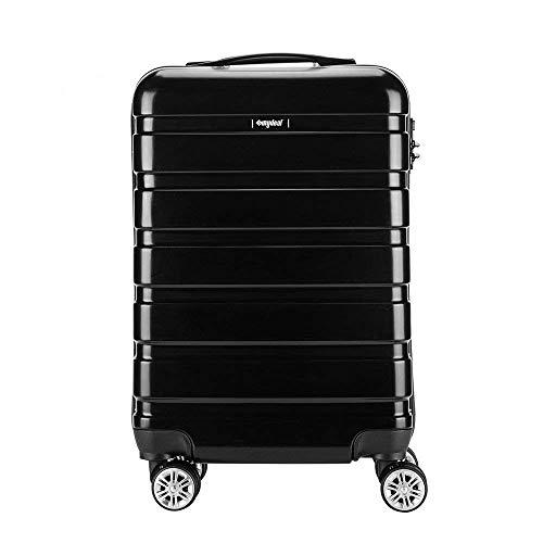 AMASAVA Hartschale 4 Rollen Handgepäck Trolley Koffer Bordgepäck Kabinentrolley Reisekoffer Gepäck Leichtgewicht ABS+Polypropylen, Genehmigt für Ryanair, Easyjet, Lufthansa und Vieles Mehr 55cm/43L