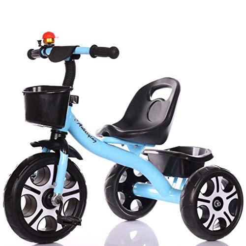 Minmin Triciclo per Bambini Bicicletta 3-6 Anni Bambino Bicicletta Bicicletta Bambino Passeggino Bambino Carrozzina (Colore : Blu)