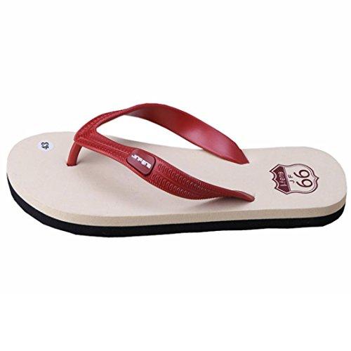 Fnkdor Sapatos Masculinos De Verão Praia Slipper Toe Trenner Aleta Mulas Fracasso Vermelho