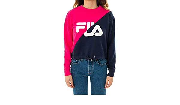 Fila Felpa Donna Women Banji Cropped Crew Sweat 687491