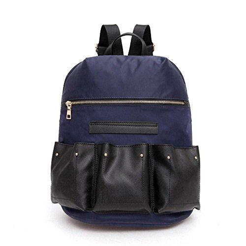 Mode Rucksack Drei Tasche dreidimensionalen Persönlichkeit Rucksack Casual Bag deep blue