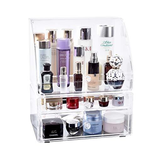 Maquillage Organisateur 3 Tiroirs de Stockage de Cosmétiques Profondes Boîtes D'affichage de Bijoux Cas Comptoir