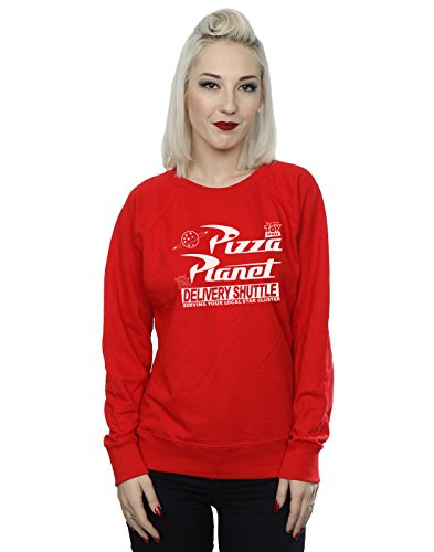 Disney Femme Toy Story Pizza Planet Logo Sweat-Shirt Rouge