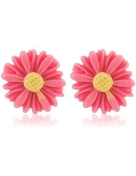 Pinke Blumen Ohrringe