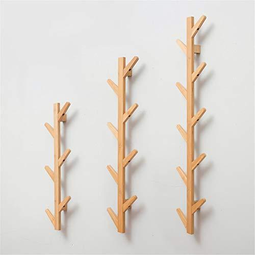 RYDS Bambus Garderobenleiste Wandbefestigung,kreativ Baum-gefürmt Garderobenhaken Kleiderhaken Für Home Küche Schlafzimmer-q -