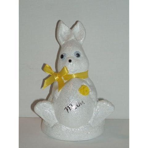 Mamma Bianco Coniglio di Pasqua Outdoor commemorativa ornamento (giallo (Easter Bunny Ornamento)