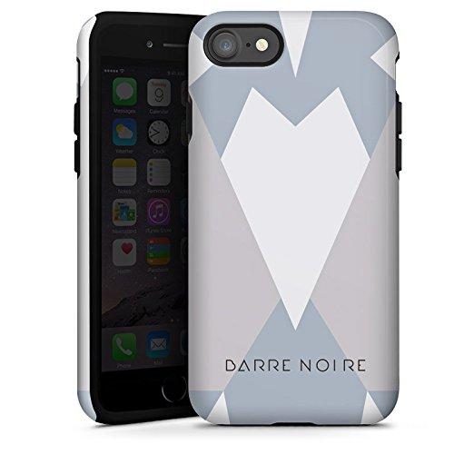 Apple iPhone X Silikon Hülle Case Schutzhülle Dreiecke Muster BARRE NOIRE Tough Case glänzend