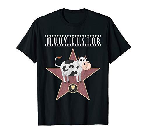 Kostüm T Shirt Kuh - Muhviehstar T-Shirt Damen Für Landwirt Im Einsatz Kuh Kostüm T-Shirt