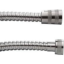 Cornat TECBW3312 - Tubo flessibile per doccia in acciaio INOX, 0,80 m, cromato