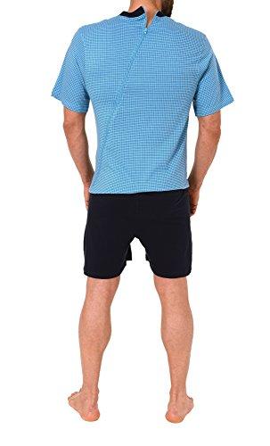 Herren Pflegeoverall kurzam und kurze Hose mit Reissverschluss am Rücken 57687 - 2