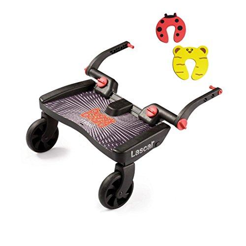 Lascal Noir Maxi Buggyboard et 2 Butée de porte de sécurité Package