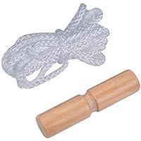 Schlittenseil Seil Zugseil 1,50 mtr 150 cm Schlaufe Meter Zugleine für Schlitten und Rodel im Winter (weiß)