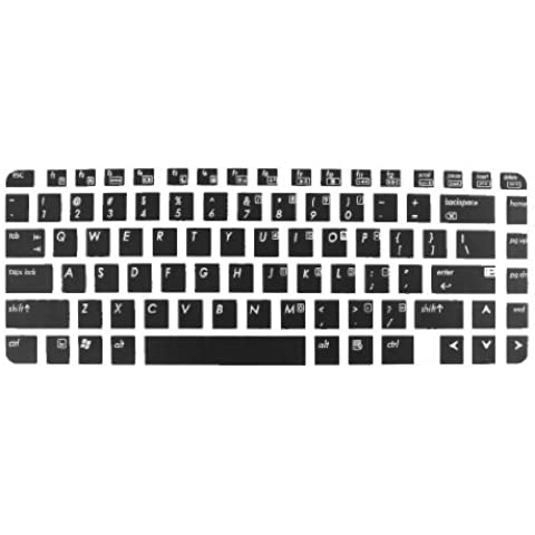 Water & Wood Black Laptop Keyboard Protector Film for HP