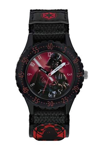 Star Wars Jungen Analog Quarz Uhr mit Stoff Armband DAR5000 (Watch Wars Star)