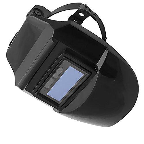 MagiDeal Auto Darkening Schweißhelm Schweißschirm Schweißmaske Solar Schweißbrille - Solar Auto Schwarz