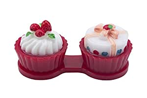 Big Pout Beautiful Red Cup Cake Contact Lens Case