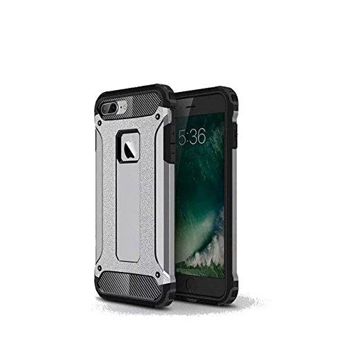iPhone 7 Plus Coque,Lantier Hybrid PC double couche+TPU Anti-Drop antichoc Cool design Etui rigide robuste robuste Lumière mince Armure pour Apple iPhone 7 Plus (5,5 pouces) Rose d'or Grey