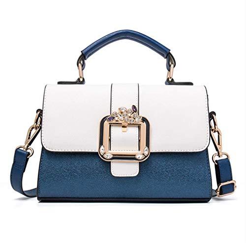 Sommer Kleine Tasche Ladies Tide Handtasche Koreanische Version der weiblichen Tasche Wild Simple Fashion Schultertasche Messenger Bag White + Sapphire Blue -