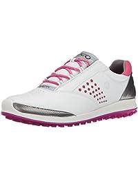 ECCO Casual Hybrid Zapatillas de Golf, Mujer, Rosa (Fusia 01083), 38 EU
