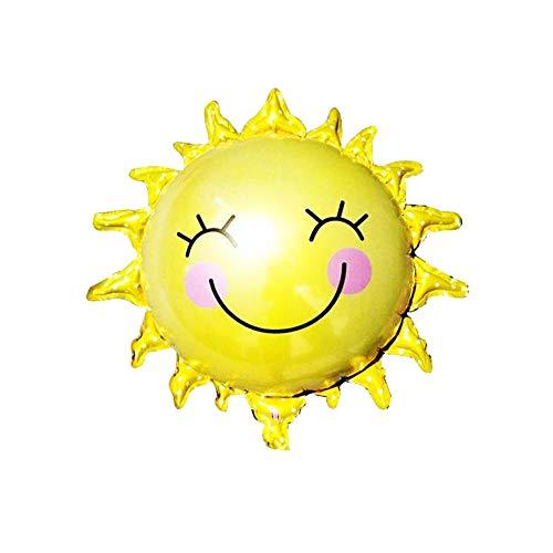 nblume Smiley Nett Folienballon für Party Kindergarten für Geburtstag Baby Kinder, Gelb 3 Stück ()
