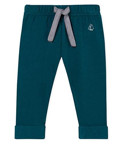 Petit Bateau Baby-Jungen Pantalon_4777602 Hose, Grün (Pinede 02), 62 (Herstellergröße: 3M/60cm) - Petite Hose Hosen