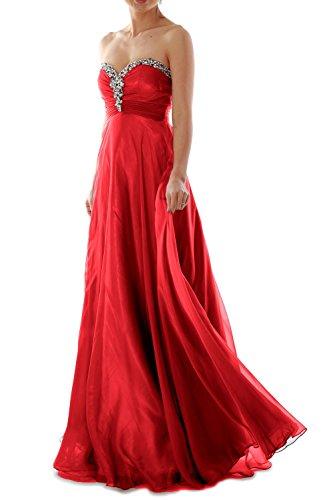 MACloth - Robe - Plissée - Sans Manche - Femme Rouge - Rouge