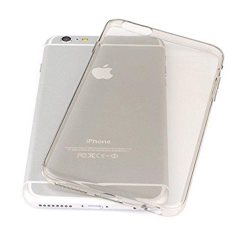 """IPhone 6/6s PLUS (5,5"""") Case - Schutzhülle - Simplex in anthrazit - Ultra dünne iPhone Hülle aus flexibelen TPU - Slimcase - Durchsichtiges iPhone Hülle aus Silikon von QUADOCTA® anthrazit"""