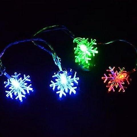JRZ Navidad copo de nieve 4.5m 28 llev¨® las luces de colores de cuerdas