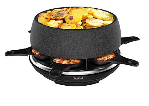 Tefal RE12C812 Appareil à Raclette Multifonction Cheese n'co 6 en 1 Raclette Fondue Tartiflette Crêpe Plancha Boîte à Fromage Gratiné 6 Personnes