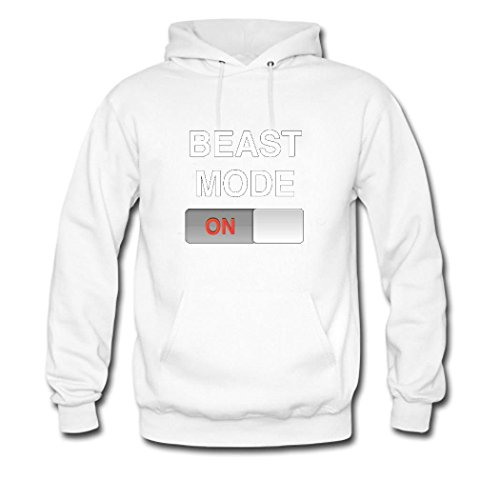 HGLee Printed Personalized Custom Beast Mode On Classic Women Hoodie Hooded Sweatshirt White--1